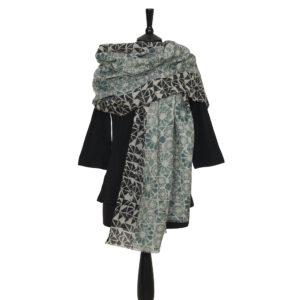 Fine Merino Wool Block Printed Scarves