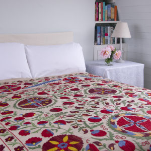 Suzani hangings / bedspreads and Suzani cushion covers