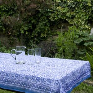 Fine Cotton Block Printed Tablecloths