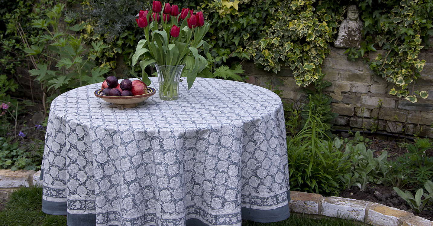 Extra Large Round Table Cloth.Tablecloths Camilla Costello